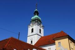 Torre de alarma de iglesia de trinidad santa Fotografía de archivo libre de regalías