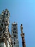 Torre de alarma de la tierra de Siena Fotografía de archivo
