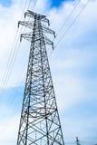 Torre de alta tensão da transmissão no selvagem Fotos de Stock Royalty Free