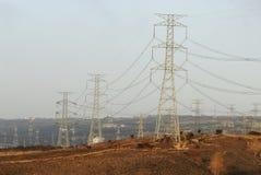 Torre de alto voltaje Fotos de archivo
