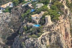 A torre de Ambolo em Javea, Alicante, Espanha Fotos de Stock Royalty Free