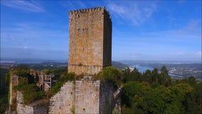 A torre de Andrade Pontedeume video estoque