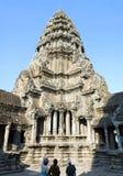 Torre de Angkor Wat Foto de Stock Royalty Free
