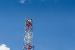 Torre de antena das telecomunicações Imagens de Stock