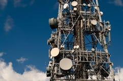 Torre de antena de la TV Foto de archivo libre de regalías