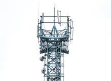 Torre de antena de las comunicaciones Imagenes de archivo