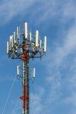 Torre de antena de rádio da telecomunicação do telefone celular Fotos de Stock