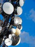 Torre de antena de uma comunicação Imagens de Stock Royalty Free