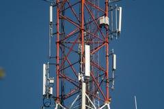 Torre de antena do telefone celular fotos de stock