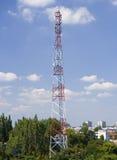 Torre de antenas Foto de archivo libre de regalías