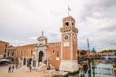 Torre de Arsenale en Venecia, Italia Fotos de archivo
