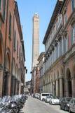 Torre de Asinelli na Bolonha, Itália Fotografia de Stock Royalty Free