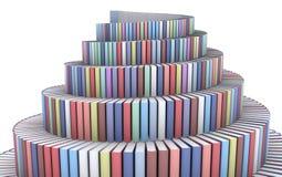 Torre de Babel creada de los libros Imágenes de archivo libres de regalías