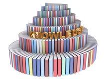 Torre de Babel creada de los libros Fotos de archivo