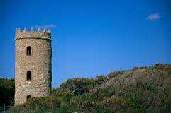 Torre de Barrosa en la playa de Chiclana Foto de archivo libre de regalías