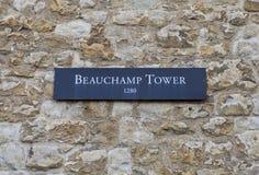 Torre de Beauchamp en la torre de Londres Foto de archivo