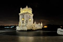 Torre de Belém (Belém tower) of Lisbon Stock Photos