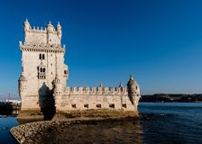 Torre de Belém, Belem Tower, medieval fortress, Unesco World He. Torre de Belém, Belem Tower on sunset, medieval fortress, Unesco World Heritage Site Royalty Free Stock Image
