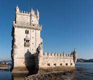 Torre de Belém, Belem Tower, medieval fortress, Unesco World He. Torre de Belém, Belem Tower on sunset, medieval fortress, Unesco World Heritage Site Stock Image