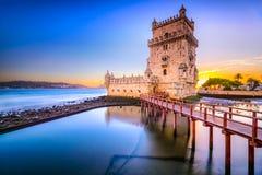 Torre de Belém em Portugal Fotografia de Stock Royalty Free