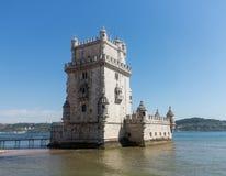 Torre de Belém no rio Tagus perto de Lisboa foto de stock royalty free