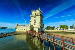 Torre de Belém no Tagus River Imagem de Stock