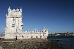 Torre de Belém (torretta) di Belem, Lisbona, Portogallo Fotografia Stock Libera da Diritti