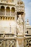 Torre de Belem: Подробности Стоковое Изображение