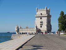 Torre de Belem. View of the Torre de Belem castle in Portugal Royalty Free Stock Photo