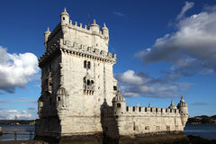Torre de Belem. The Torre de Belem is a fortified tower located in the Belém district of Lisbon, Portugal. It is an UNESCO World Heritage Site stock photos