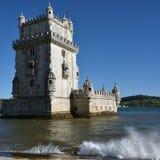 Torre de Belem or Belem Tower, Lisbon, Portugal Stock Photos