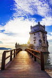 Torre de Belem - berömd gränsmärke av Lissabon, Portugal Fotografering för Bildbyråer
