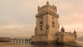 Torre de Belem en Lisboa almacen de video