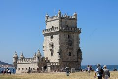 Torre de Belem en Lisboa fotos de archivo libres de regalías