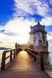 Torre de Belem - famous landmark of Lisbon , Portugal Stock Image
