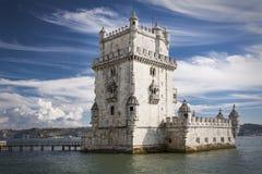 Torre de Belem i Lissabon Arkivfoto