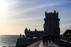 Torre de Belem i Lissabon, Portugal Royaltyfri Foto