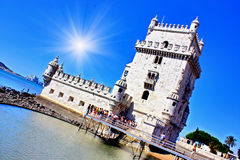 Torre de Belem. Lisbon. Soft colors Stock Images