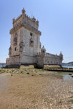 Torre de Belem, Lisbon. The Tower of Belem at the Tagus river, Lisbon Royalty Free Stock Photography