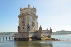 Torre de Belem Lisbona Portogallo Fotografie Stock Libere da Diritti