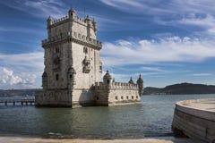 Torre DE Belem in Lissabon Stock Foto's