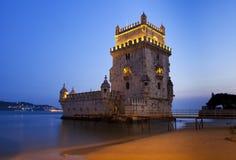 Torre de Belem, Lissabon, Portugal Royaltyfri Fotografi