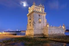 Torre DE Belem, Lissabon, Portugal Stock Afbeeldingen