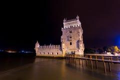 Torre DE Belem, Lissabon, Portugal Royalty-vrije Stock Foto's