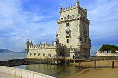 Torre DE Belem, Lissabon, Portugal Royalty-vrije Stock Afbeeldingen