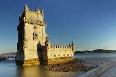 Torre de Belem, Lissabon, Portugal Arkivfoton