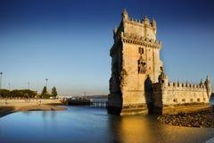 Torre de Belem, Lissabon, Portugal Arkivfoto
