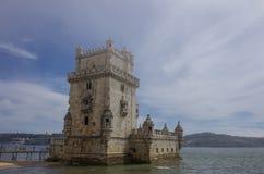 Torre de Belem na Tagus rzece chroni ent (Belem wierza) Zdjęcie Stock