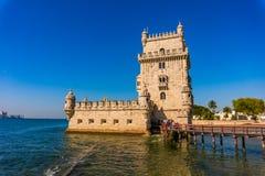 Torre de Belem de St Vincent en la parroquia civil de Santa Maria de Belem en la Lisboa fotografía de archivo