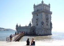 Torre de Belem torn Lissabon Royaltyfri Bild